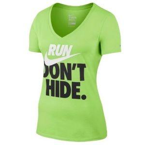 """Nike """"Run Don't Hide"""" V-Neck Tee"""